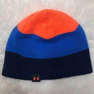 Under Armour Blue & Orange Winter Hat Size 2T